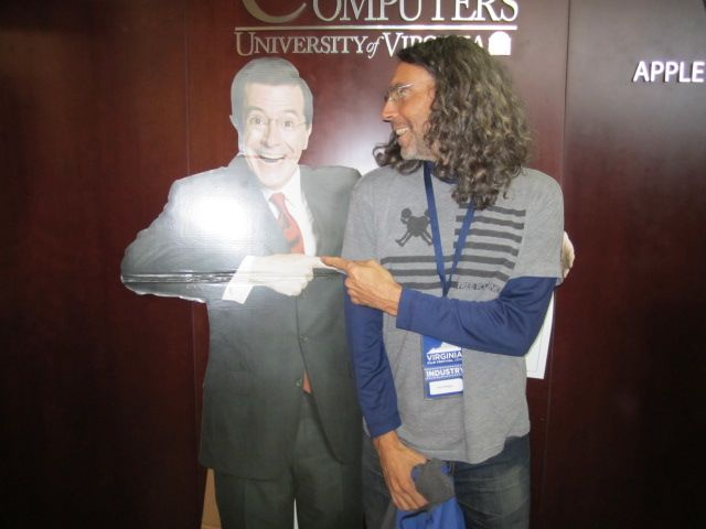 Tom Shadyac & Stephen Colbert cutout - Virginia Film Festival 2010 - Iamthedoc.com Photo Gallery